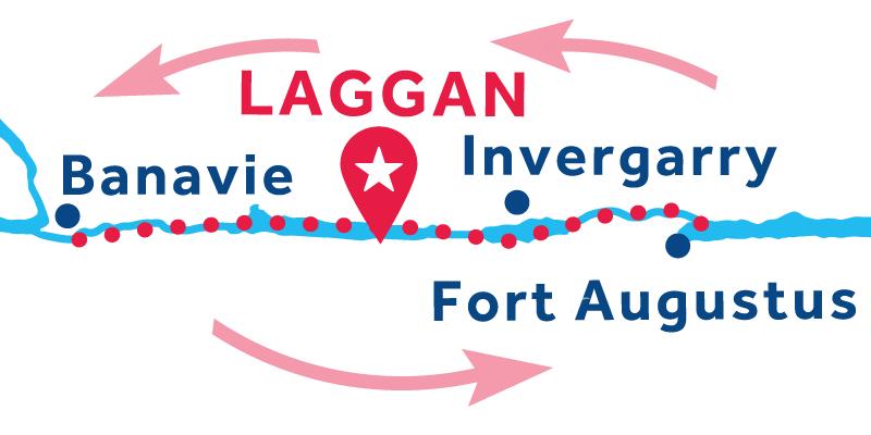 Laggan IDA Y VUELTA vía Banavie & Fort Augustus