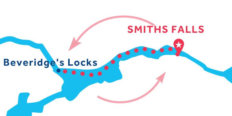 Smiths Falls IDA Y VUELTA vía Beveridges