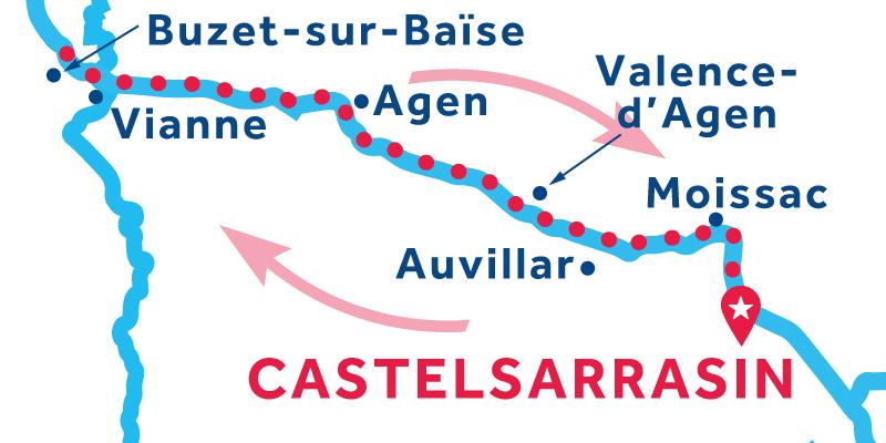 Castelsarrasin IDA Y VUELTA vía Buzet-sur-Baïse