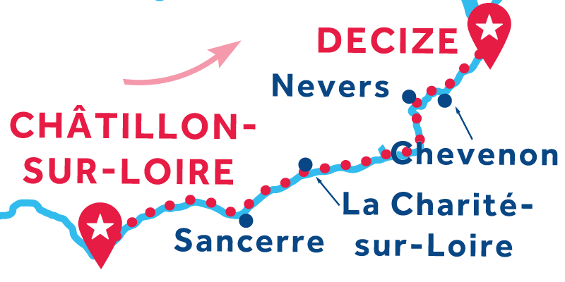 De Châtillon-sur-Loire a Decize vía Nevers