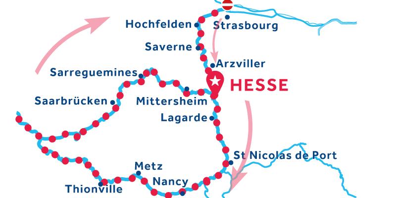 Hesse IDA Y VUELTA vía Saarbrücken & Metz (Licencia obligatoria)