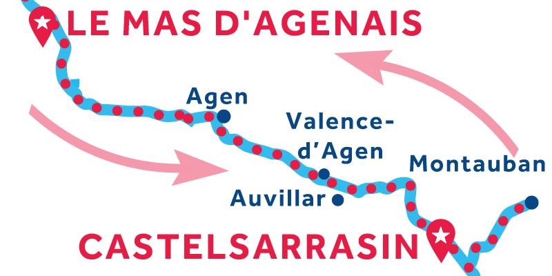 Le Mas-d'Agenais IDA Y VUELTA vía Montauban