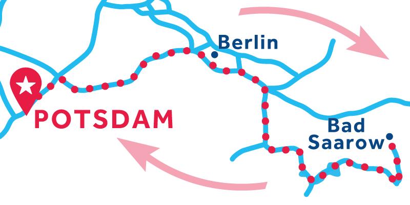 Potsdam IDA Y VUELTA vía Bad Sarrow (Licencia obligatoria)