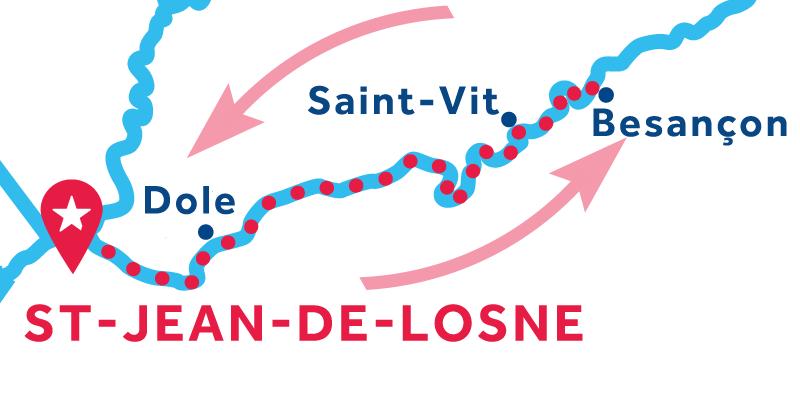 Saint-Jean-de-Losne IDA Y VUELTA vía Besançon