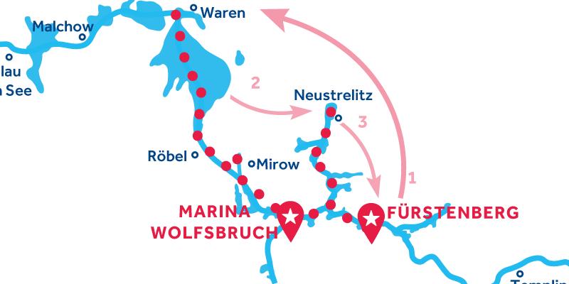 Fürstenberg IDA Y VUELTA vía Waren & Neustrelitz