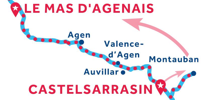 De Castelsarrasin a Le Mas d'Agenais vía Montauban