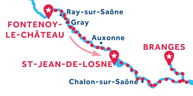 De Fontenoy-le-Château a Branges