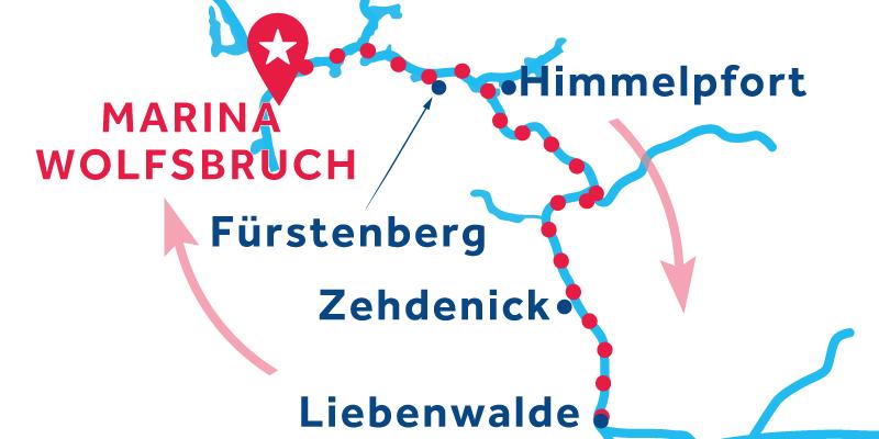 Marina Wolfsbruch IDA Y VUELTA vía Werbellinsee (Licencia obligatoria)
