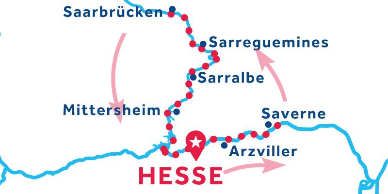 Hesse IDA Y VUELTA via Saverne & Saarbrücken