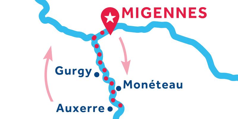 Migennes IDA Y VUELTA vía Auxerre