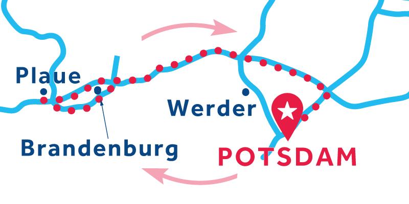 Potsdam IDA Y VUELTA vía Plaue (Licencia obligatoria)
