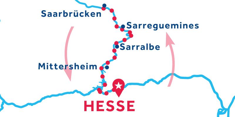 Hesse IDA Y VUELTA vía Saarbrücken