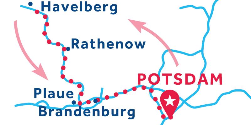 Potsdam IDA Y VUELTA vía Rathenow (Licencia obligatoria)