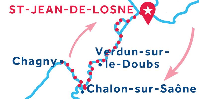 Saint-Jean-de-Losne IDA Y VUELTA vía Chagny
