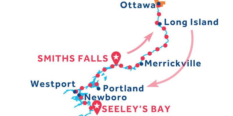 De Smiths Falls a Seeley's Bay vía Ottawa