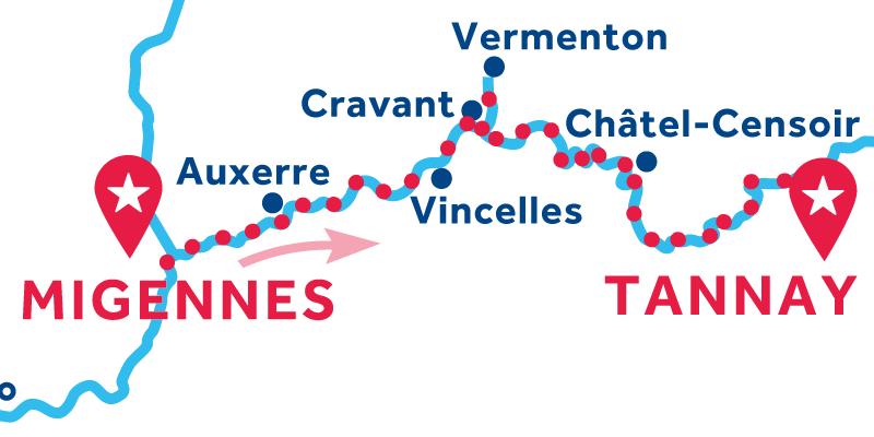 De Migennes a Tannay vía Vermenton