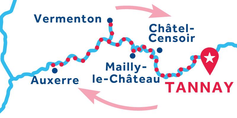 Tannay IDA Y VUELTA vía Auxerre