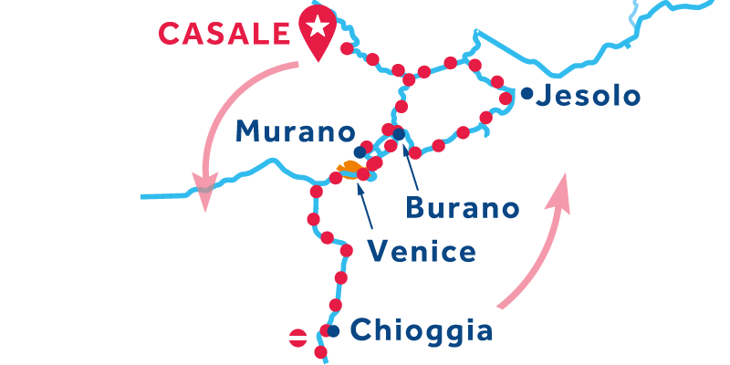 Casale IDA Y VUELTA vía Venecia, Chioggia & Lido di Jesolo
