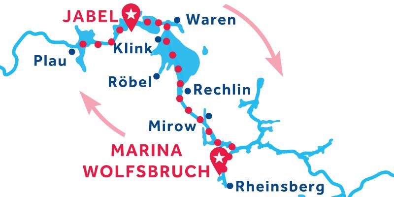 Jabel IDA Y VUELTA vía Rheinsberg