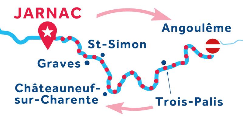 Jarnac IDA Y VUELTA vía Angoulême