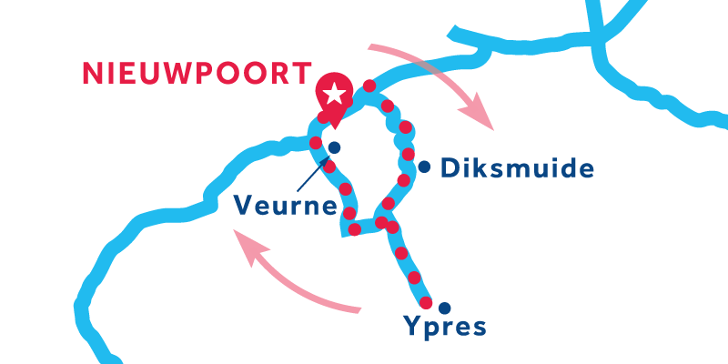 Nieuwpoort IDA Y VUELTA vía Ypres & Veurne