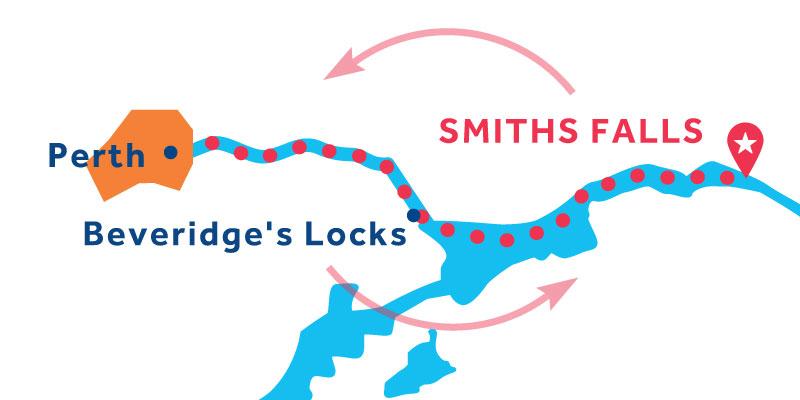 Smiths Falls IDA Y VUELTA vía Perth