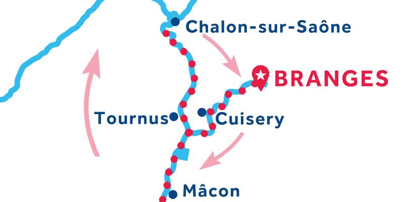 Branges IDA Y VUELTA vía Mâcon & Chalon-sur-Saône