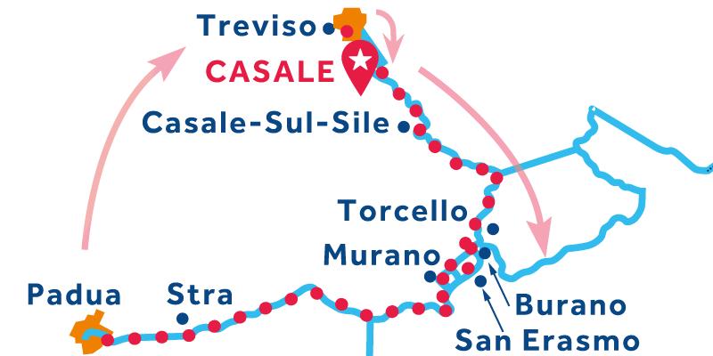Casale IDA Y VUELTA vía Venecia & Stra (Padua)