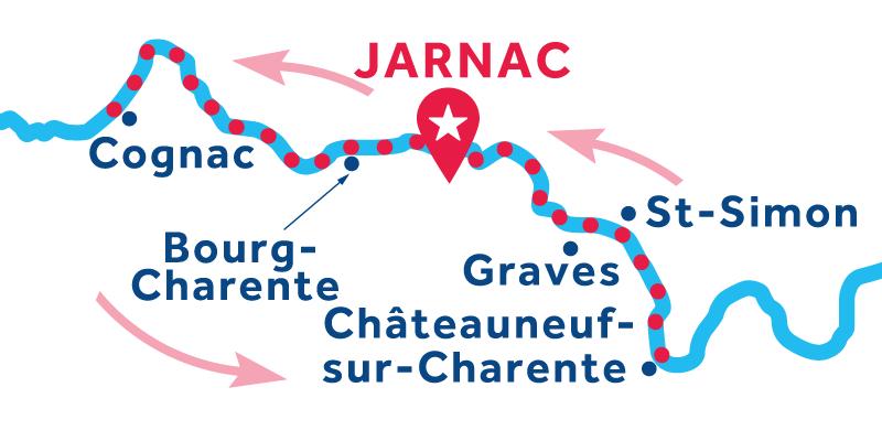 Jarnac IDA Y VUELTA vía Cognac & Châteauneuf-sur-Charente