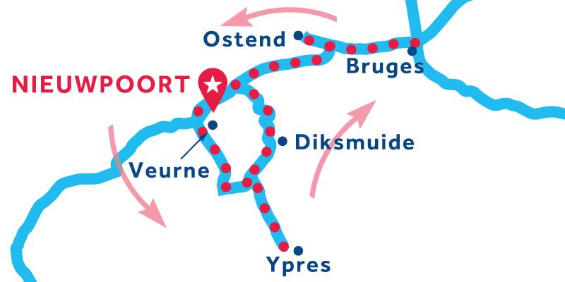 Nieuwpoort IDA Y VUELTA vía Ypres & Brujas