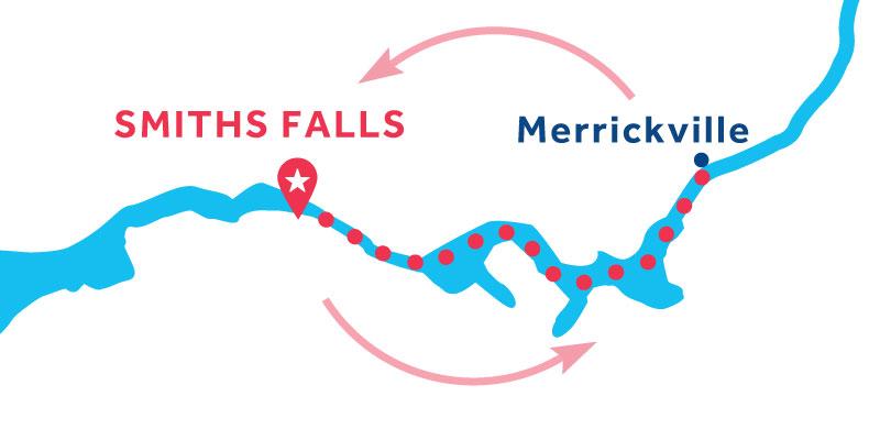 Smiths Falls IDA Y VUELTA vía Merrickville