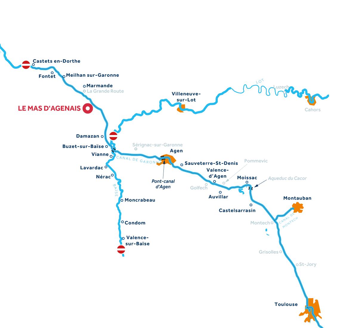 Mapa: Aquitania