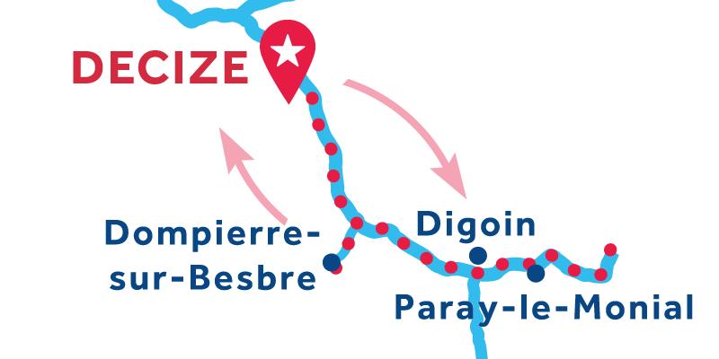 Decize IDA Y VUELTA vía Paray-le-Monial