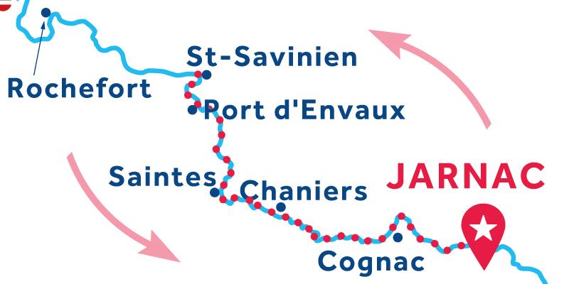 Jarnac IDA Y VUELTA vía Saint-Savinien