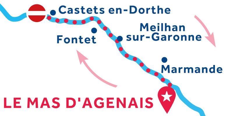 Le Mas-d'Agenais IDA Y VUELTA via Buzet-sur-Baïse