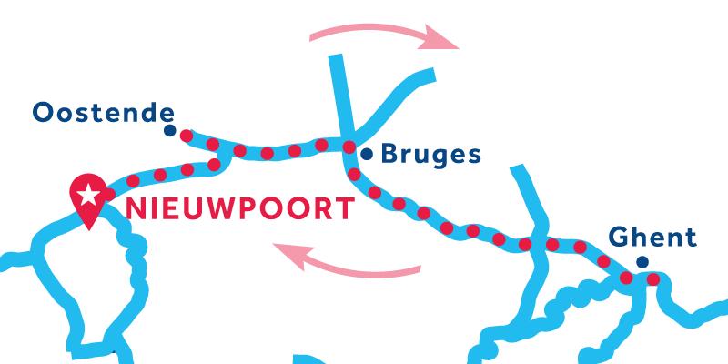 Nieuwpoort IDA Y VUELTA vía Brujas & Gante