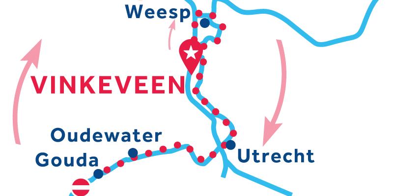 Vinkeveen IDA Y VUELTA vía Utrecht y Gouda