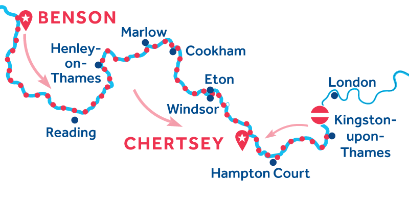 De Benson a Chertsey vía Kingston-upon-Thames