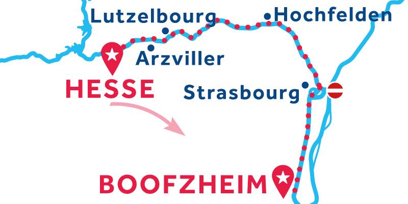 De Hesse a Boofzheim vía Strasbourg