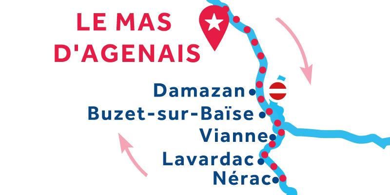 Le Mas-d'Agenais IDA Y VUELTA via Nérac