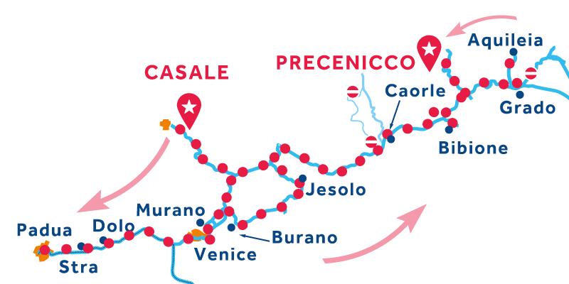 De Casale a Precenicco vía Venecia, Padua & Chioggia