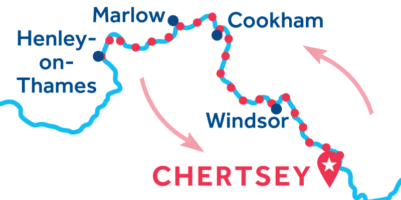 Chertsey IDA Y VUELTA vía Henley-upon-Thames