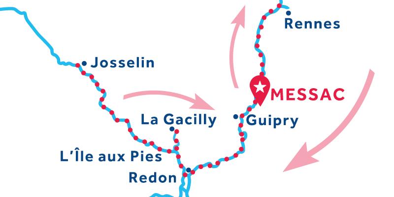 Messac IDA Y VUELTA vía Rennes & Josselin