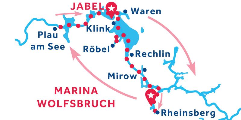 Marina Wolfsbruch IDA Y VUELTA vía Plau am See and Rheinsburg