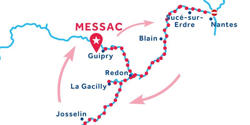 Messac IDA Y VUELTA vía Josselin & Blain