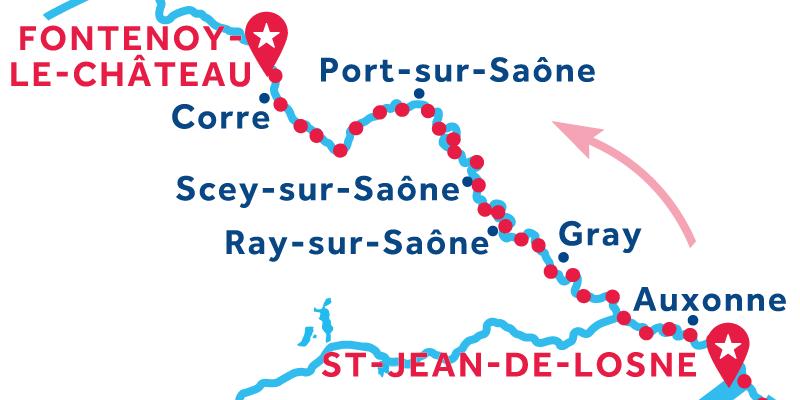De Saint-Jean-de-Losne a Fontenoy-le-Château