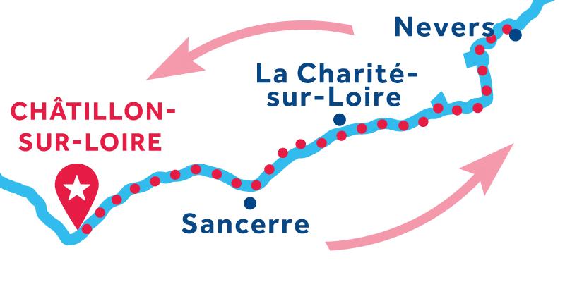 Châtillon-sur-Loire IDA Y VUELTA vía Sancerre & Nevers