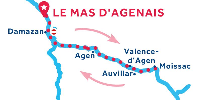 Le Mas-d'Agenais IDA Y VUELTA vía Moissac