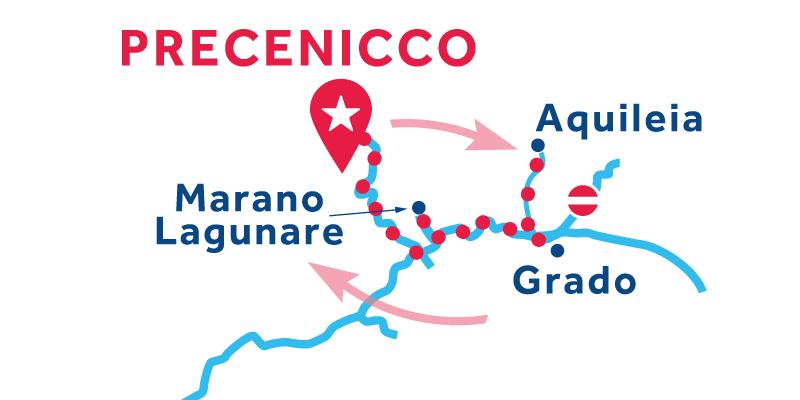 Precenicco IDA Y VUELTA vía Marano Lagunare & Lignano Riviera