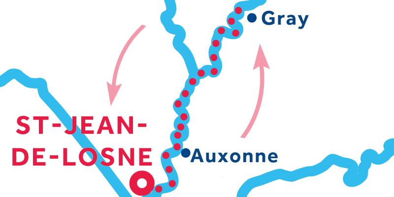 Saint-Jean-de-Losne IDA Y VUELTA vía Gray
